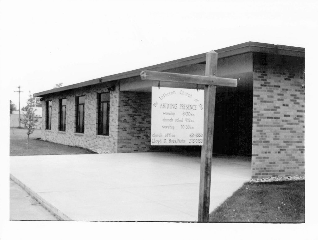 Abiding Presence Church entrance in 1962.